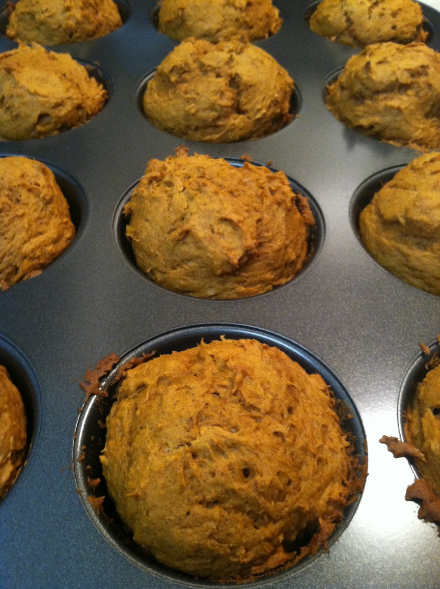 Pumpkin Spice Muffins: Two Ingredients
