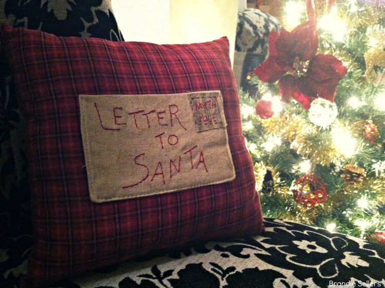Letter to Santa Pillow
