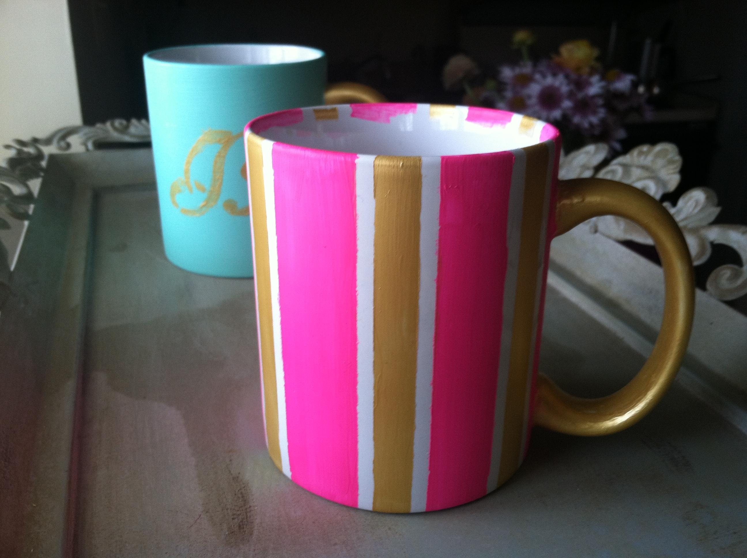 DIY Painted Mugs Vase Brandie Sellers - Diy creative painted mug