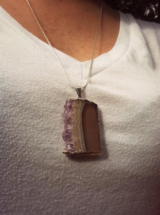 Amethyst Geode Necklace