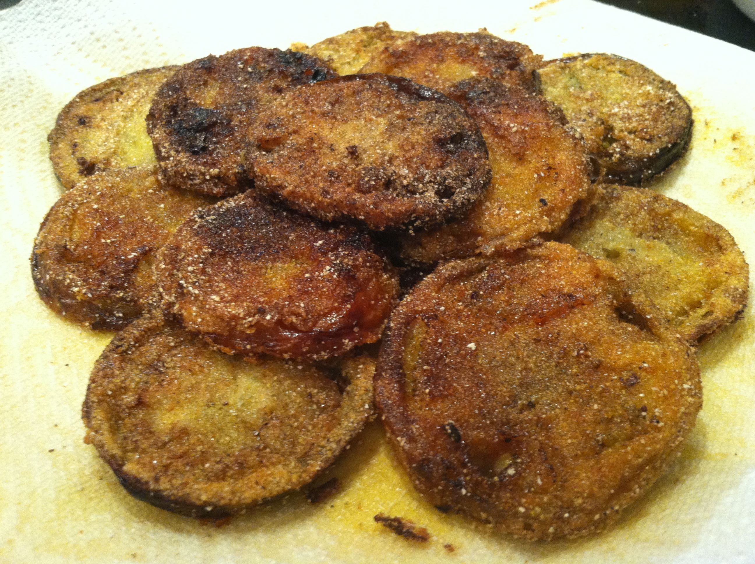 Fried Green Tomatoes | In Olive Oil | Brandie Sellers