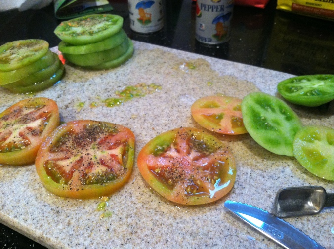 Salt and pepper tomatoes