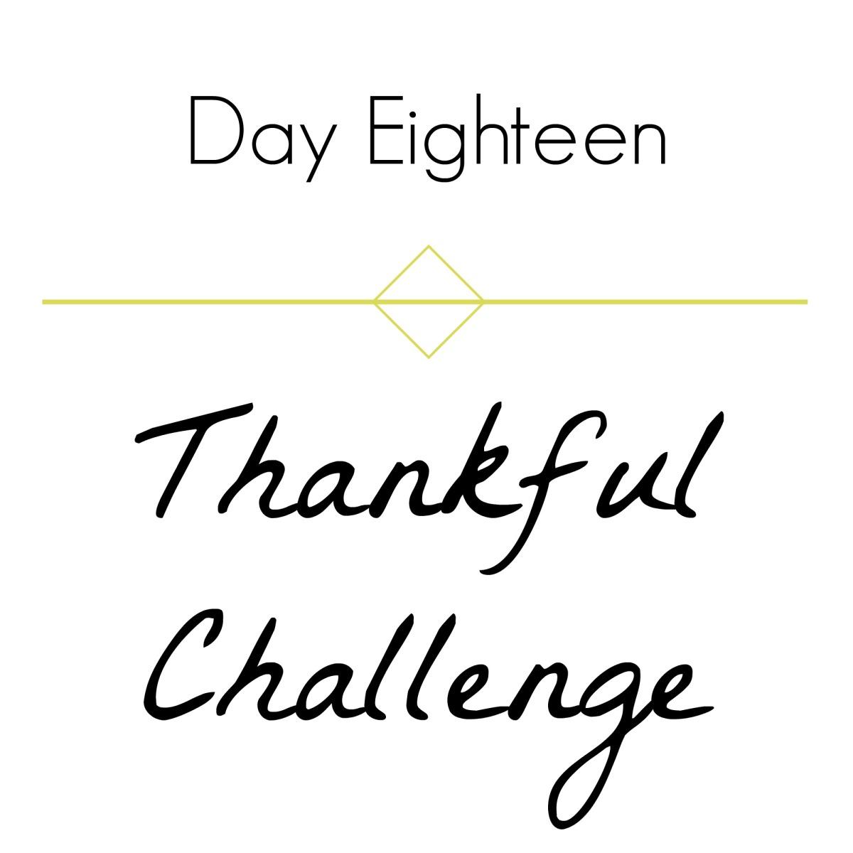 Thankful Challenge Day 18 | 2016